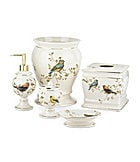 Avanti Linens Gilded Birds Bath Accessories