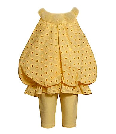 Bonnie Baby Newborn Eyelet Bubble Top & Leggings Set