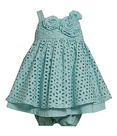 Bonnie Baby Newborn Eyelet Dress & Matching Panty