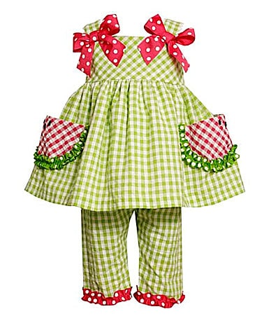 Bonnie Baby Infant Watermelon Seersucker Capri Set