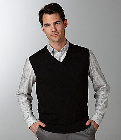 Daniel Cremieux Signature Solid Diamond Sweater Vest