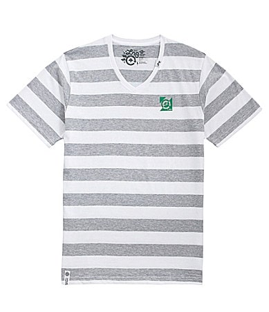 LRG Ivory Coast Striped V-Neck Tee