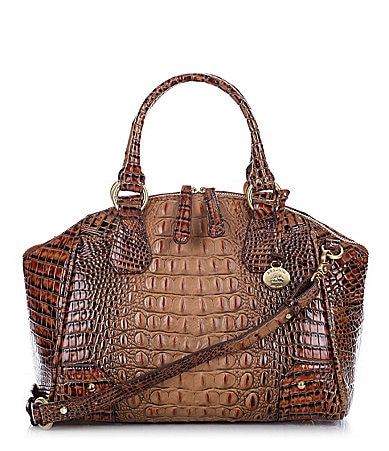 Brahmin Toasted Almond Collection Tyler Satchel