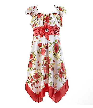 My Michelle 7-16 Floral Printed Chiffon Dress