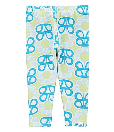 Adidas 2-6X Flower Power Tech Capri Pants