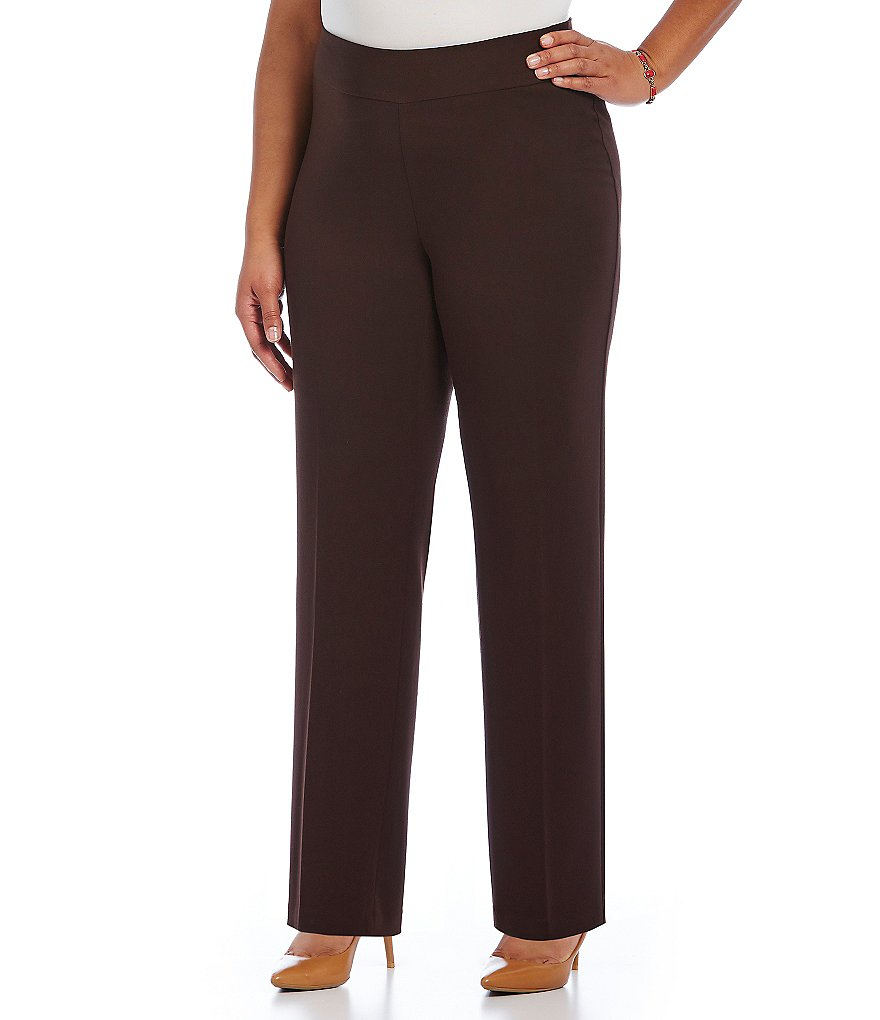 Investments Plus the PARK AVE fit Secret Support� Pull-On Straight-Leg Pants