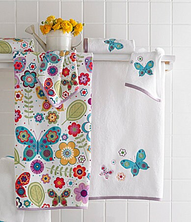 Kassatex Bambini Butterfly Bath Towels
