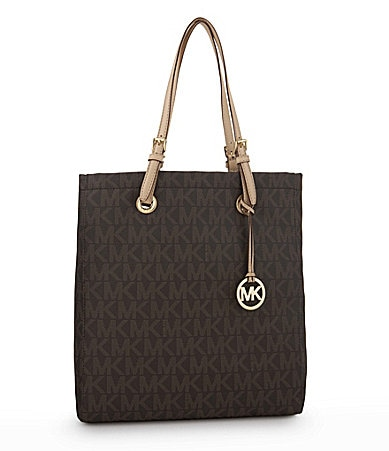 MICHAEL Michael Kors Signature Large North/South MK Logo Tote