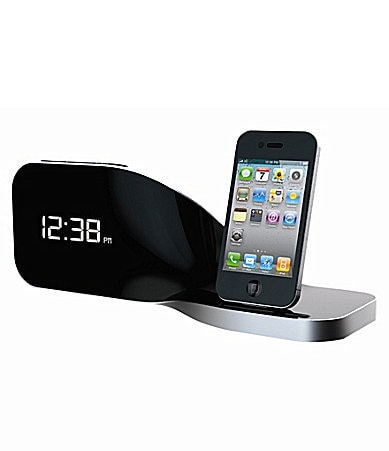 Sharper Image Twist Bedside Alarm Dock