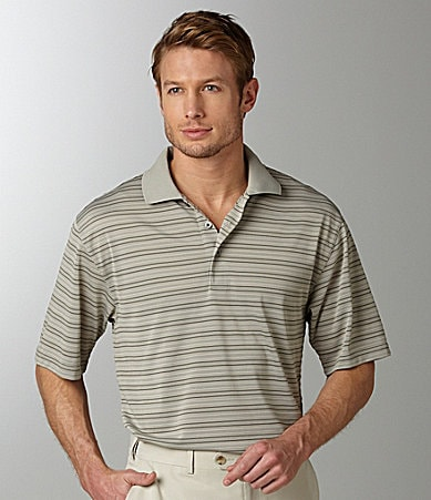 Roundtree & Yorke Performance Stripe Polo Shirt
