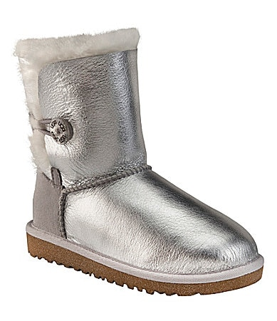UGG Australia Girls Bailey Button Metallic Boots