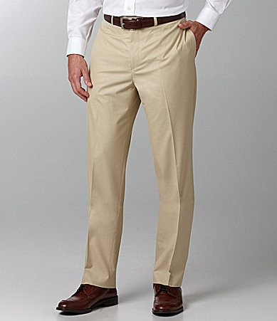 Ralph Lauren Solid Flat Front Dress Pants