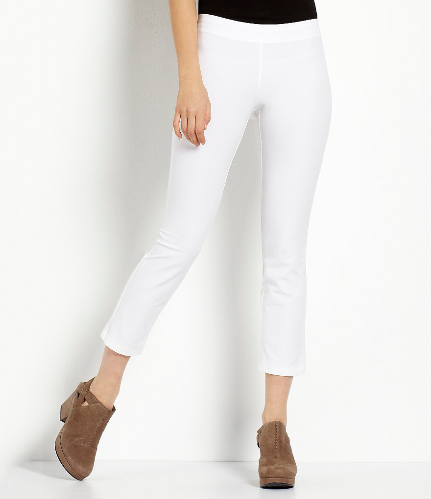 Eileen Fisher Petite Crepe Ankle Pants