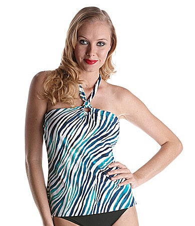 Jantzen Wild Side Animal-Print Tankini Top