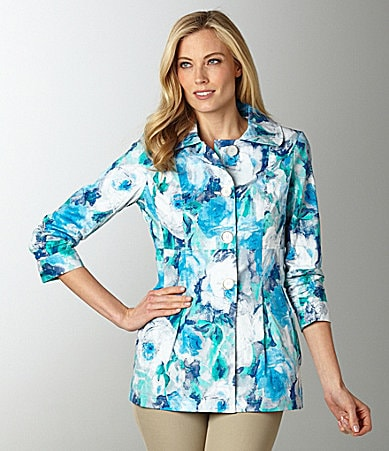 Multiples Floral Print Jacket