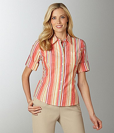 Jones New York Sport Striped Blouse