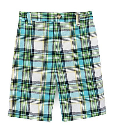 Class Club 2T-7 Flat-Front Plaid Shorts