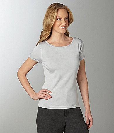 Investments Cap-Sleeve Ballerina Top