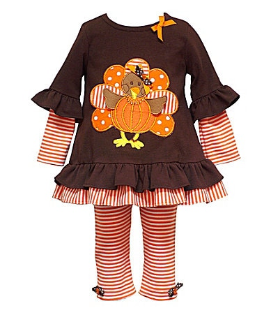 Rare Editions Toddler Turkey Top & Leggings Set