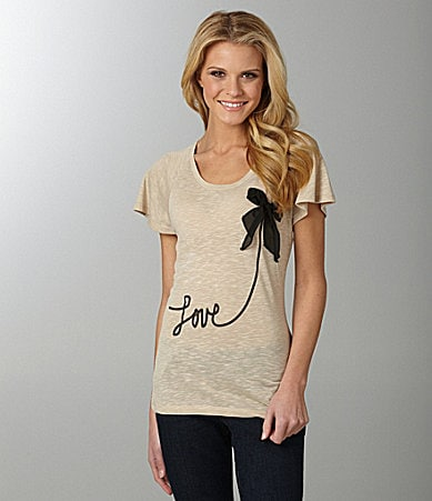 Jessica Simpson Jeanswear Love Applique Top