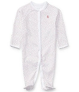 Ralph Lauren Childrenswear Newborn Dainty Floral Printed Footed Coverall Image