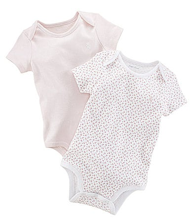 Ralph Lauren Childrenswear Newborn Printed Bodysuits 2-Pack