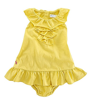 Ralph Lauren Childrenswear Infant Ruffled Dress