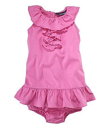 Ralph Lauren Childrenswear Infant Ruffled Dress & Panty