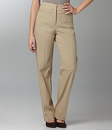 Investments Petites PARK AVE fit V-Pocket Straight-Leg Pants