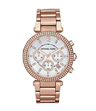 Michael Kors Rose Gold Parker Chronograph Watch