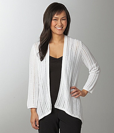 Ruby Rd. Pointelle Cardigan