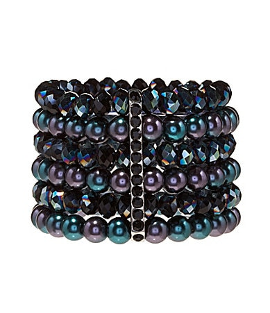 Cezanne Beaded Shaky Stretch Bracelet