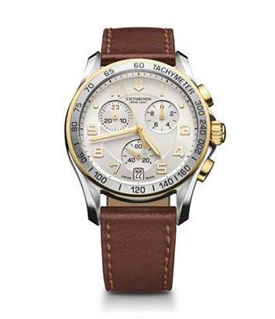 Victorinox Swiss Army Classic Chronograph Leather Watch
