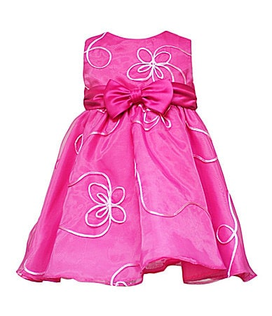 Rare Editions Newborn Butterfly Soutache Organza Dress