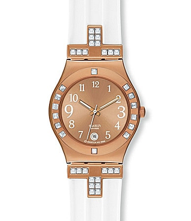 Swatch Fancy Me Pink Gold Watch