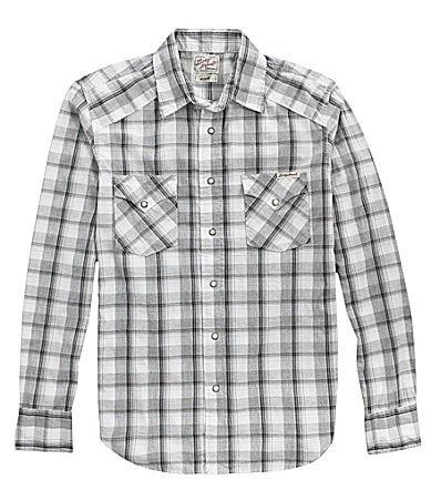 Lucky Brand Jeans Poplin Plaid Western Buttoned Shirt