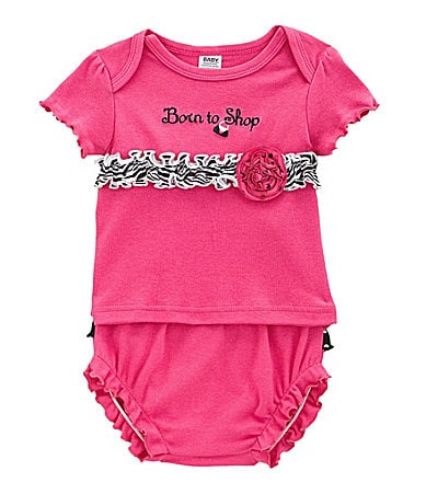 Baby Essentials Newborn Born to Shop Tee & Panty Set