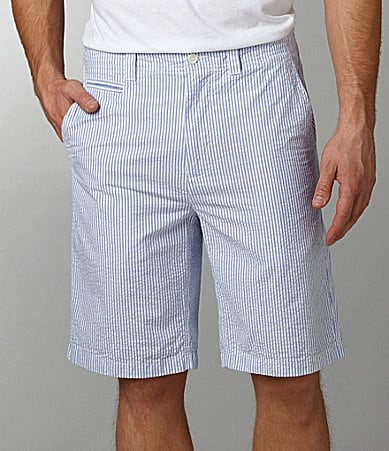 Cremieux Cotton Seersucker Shorts