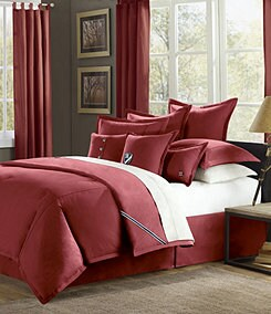Cremieux Classic Twill Red Bedding Collection