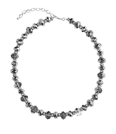 Cezanne Silver Beaded Necklace