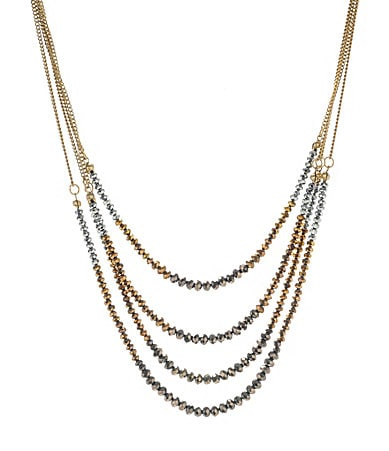 Kenneth Cole New York Modern Mixed Metal Multi-Row Necklace