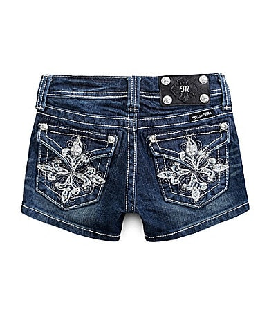 Miss Me Girls 7-16 Cross Pocket Shorts