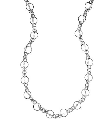 Dillard�s Tailored Long Linked Rings Necklace