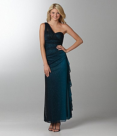 Blondie Nites One-Shoulder Ombre Dress