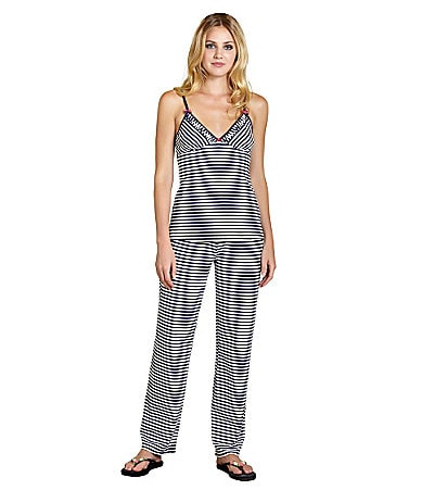 Betsey Johnson Cotton Stretch Stripe Pajamas