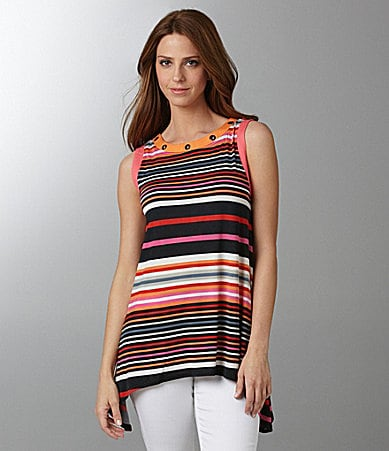 Isabel Stripe Grommet Tunic