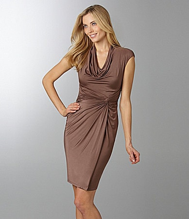Maggy London Draped Jersey Dress