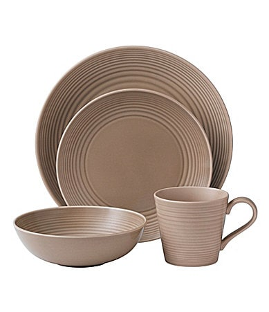 Gordon Ramsay by Royal Doulton Maze Taupe Dinnerware