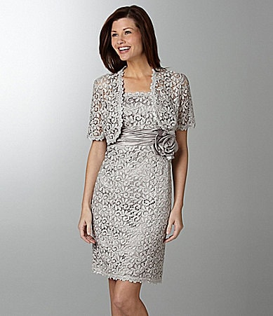 R & M Richards Lace Jacket Dress