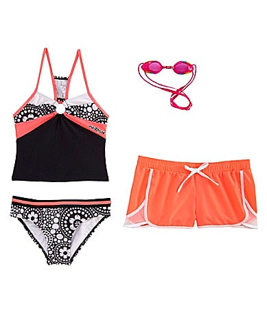 Zero Xposure 7-16 Tankini 3-Piece Swimsuit Set
